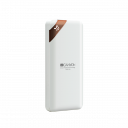CANYON CNE-CPBP10W 10000 mAh, Li-Polymer, Micro USB, USB C, 2 x USB A fehér powerbank