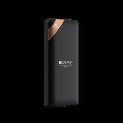 CANYON CNE-CPBP10B 10000 mAh, Li-Polymer, Micro USB, USB C, 2 x USB A fekete powerbank