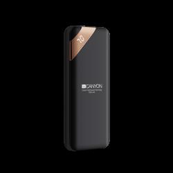 CANYON CNE-CPBP5B 5000 mAh, Li-Polymer, Micro USB, USB C, USB A fekete powerbank
