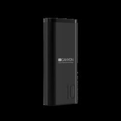 CANYON CNE-CPB010B 10000 mAh, Li-Polymer, Micro USB, USB C, USB A fekete powerbank