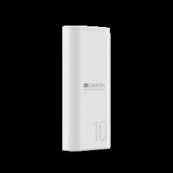 CANYON CNE-CPB010W 10000 mAh, Li-Polymer, Micro USB, USB C, USB A fehér powerbank