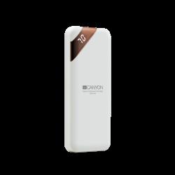 CANYON CNE-CPBP5W 5000 mAh, Li-Polymer, Micro USB, USB C, USB A fehér powerbank