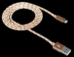 CANYON CNE-CFI3GO Lightning - USB A, 1 m arany kábel