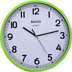 SECCO 29,5 cm zöld keretes falióra