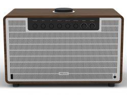REVO SuperTone 80W Bluetooth/Toslink/AUX fa dió/ezüst zenelejátszó