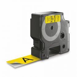 """DYMO """"D1""""  24 mm x 7 m sárga-fekete feliratozógép szalag"""