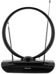 Sencor SDA 112 DVB-T2/T, UHF 470-790 MHz, VHF 47-230 MHz fekete beltéri antenna