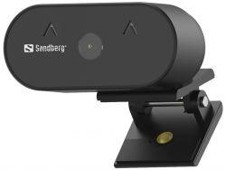 Sandberg Webcam Wide Angle 2MP Full HD 30 FPS USB 2.0 Fekete webkamera