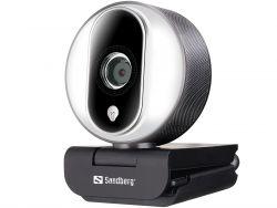 Sandberg Streamer Pro 2MP 1080p/30 FPS Full HD USB Fekete-fehér webkamera