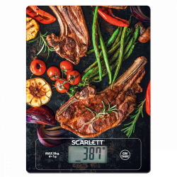 Scarlett SC KS57P39 max. 8 kg, LCD, 1 g pontosság mintás konyhai mérleg