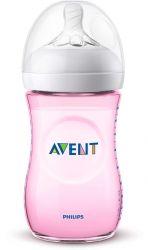 Philips Avent Natural SCF034/17 260ml átlátszó/rózsaszín cumisüveg