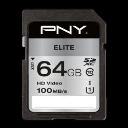 PNY Elite 64GB SDXC Class 10 UHS-I memóriakártya