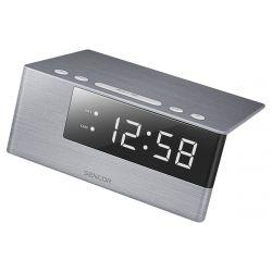 """Sencor SDC 4600 WH LED 0,6"""", 1.2 W ezüst-fehér digitális ébresztőóra"""