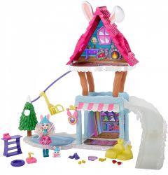 Mattel Enchantimals - Bree Bunny és Twist síkunyhó játékszett