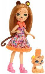 Mattel Enchantimals - Cherish Cheetah és Quick baba állatkával