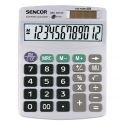 Sencor SEC 367/12 12 számjegyes kijelző, elem és napelem, szürke számológép