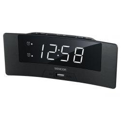 Sencor SDC 4912 WH, USB 5V, 1.2 W fekete digitális ébresztőóra