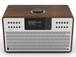 REVO SuperCD 40W Wifi/FM/DAB/Bluetooth/CD fa dió/ezüst zenelejátszó