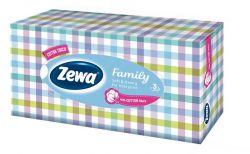Zewa Family 90 db illatmentes kozmetikai kendő