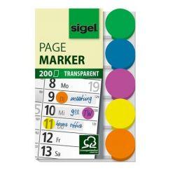 SIGEL 50x12 mm műanyag vegyes színű jelölőcímke (5x40 lap)