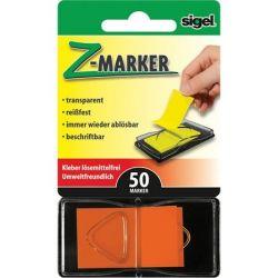 """SIGEL """"Z"""" 25x45 mm műanyag narancs jelölőcímke (50 lap)"""