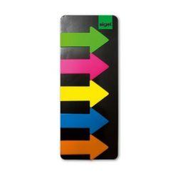"""SIGEL """"Nyilak"""" 25x45 mm műanyag vegyes színú jelölőcímke (5x25 lap)"""