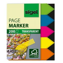 "SIGEL ""Nyilak"" 12x45 mm műanyag vegyes színű jelölőcímke (5x40 lap)"
