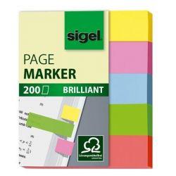 "SIGEL ""Brilliant Mini"" 12x50 mm papír vegyes színű jelölőcímke (5x40 lap)"