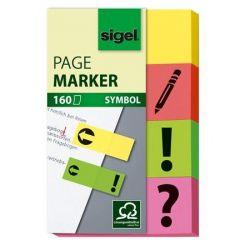 SIGEL 20x50 mm papír vegyes színű jelölőcímke (4x40 lap)