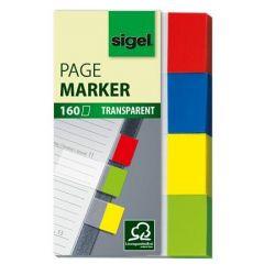 """SIGEL """"Clear"""" 20x50 mm műanyag vegyes színű Jelölőcímke (4x40 lap)"""