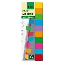 SIGEL 44x12,5 mm műanyag vegyes színek jelölőcímke (10x50 lap)