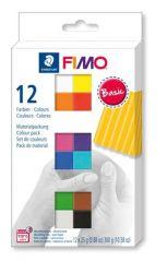 """FIMO """"Soft Basic"""" égethető 12 különböző színű gyurma készlet (12x25 g)"""