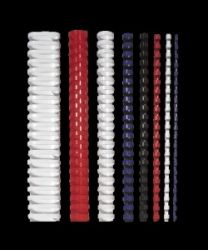 FELLOWES 8 mm, 21-40 lap, műanyag fekete spirál (25 db)