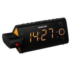 Sencor SRC 330OR LED, PLL FM rádió fekete-narancs rádiós ébresztőóra