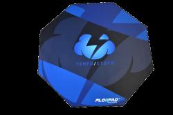 Florpad Tempo Storm 120x120x0,4 cm fekete-kék gamer szőnyeg