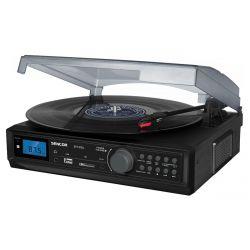 Sencor STT 212U FM, USB/SD, MP3, BT, 2×5 W RMS fekete lemezjátszó