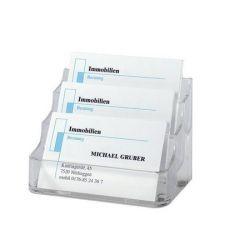 SIGEL műanyag áttetsző 210 db-os névjegytartó