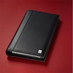 "SIGEL ""Torino"" 160 db-os gyűrűs fekete bőr névjegytartó"