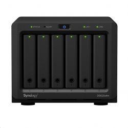 Synology DS620slim+6GB 2×2,0-2,5 GHz CPU, 6 GB RAM fekete 6 lemezes NAS szerver