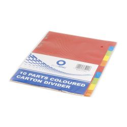 BLUERING JJ40912B10 10 részes színes karton Elválasztólap