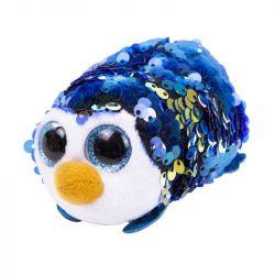TEENY TY TY42406 Payton flitteres kék pingvin plüss