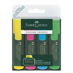 """FABER-CASTELL, """"Textliner 48"""" 1-5 mm 4 különböző színű szövegkiemelő"""