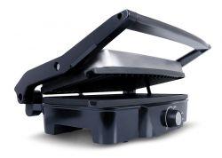 Eldom GK150 2000 W, tapadásmentes inox-fekete kontakt grill