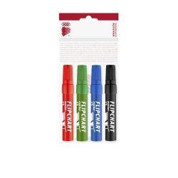"""ICO """"Artip 12"""" 1-4 mm vágott flipchart marker készlet (4 db/készlet)"""