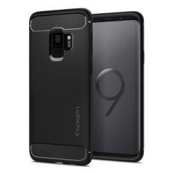 Spigen SGP Rugged Armor Samsung Galaxy S9 szilikon fekete hátlap tok
