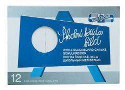 KOH-I-NOOR szögletes fehér táblakréta (12 db/doboz)