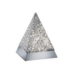 TRIO Paul 5W 20cm alumínium/króm asztali lámpa