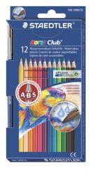 """STAEDTLER """"Noris Club"""" 12 különböző színű akvarell ceruza készlet ecsettel"""