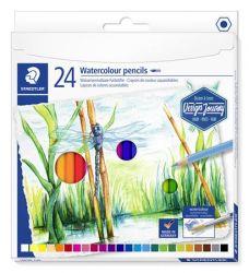 Staedtler Design Journey hatszögletű 24 különböző színű akvarell ceruza készlet (24 db)