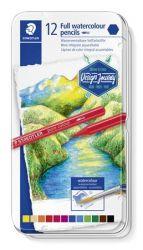 Staedtler Design Journey hatszögletű 12 különböző színű akvarell ceruza készlet fém dobozban (12 db)